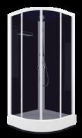Душевая кабина Domani-Spa Eko 99 (90x90) Черные стенки, тонированные стекла