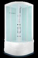 Душевая кабина Domani-Spa Light 99 high (белые стенки, сатин-матированные стекла) с гидромассажем