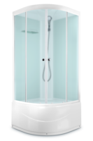 Душевая кабина Domani-Spa Light 99 high (белые стенки, сатин-матированные стекла)