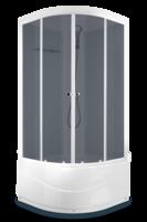 Душевая кабина Domani-Spa Light 99 high (белые стенки, тонированные стекла)