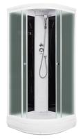 Душевая кабина Domani-Spa Light 99 (черные стенки, матовые стекла)