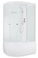 Душевая кабина Domani-Spa Light 128 high (R, белые стенки, прозрачные стекла)