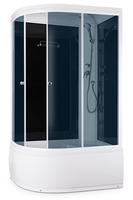Душевая кабина Domani-Spa Light 128 high (R, черные стенки, тонированные стекла)
