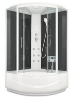 Душевая кабина Domani-Spa Vitality high (черные стенки, прозрачные стекла)