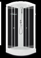 Domani-Spa Light 110 Россия, черные стенки, прозрачные стекла