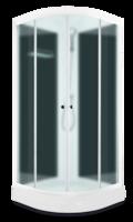 Domani-Spa Light 110 Россия, черные стенки, сатин-матированные стекла