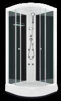 Domani-Spa Light 110 ВГ Россия, черные стенки, прозрачные стекла