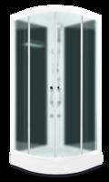 Domani-Spa Light 110 ВГ Россия, черные стенки, сатин-матированные стекла