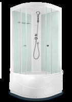 Душевая кабина Domani-Spa Light 99 high (белые стенки, прозрачные стекла)
