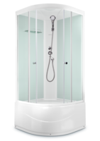 Душевая кабина Domani-Spa Light 88 high (80x80), Белые стенки, прозрачные стекла