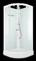 Душевая кабина Domani-Spa Eko 99 (90x90) Белые стенки, прозрачные стекла