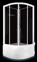 Душевая кабина Domani-Spa Eko 88 high (90x90) Черные стенки, тонированные стекла