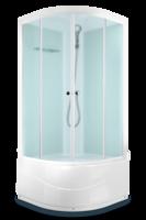 Душевая кабина Domani-Spa Light 88 high (80x80), Белые стенки, сатин-матированные стекла