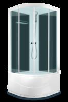 Душевая кабина Domani-Spa Light 88 high (80x80), Черные стенки, сатин-матированные стекла