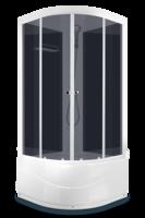 Душевая кабина Domani-Spa Light 88 high (80x80), Черные стенки, тонированные стекла