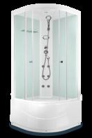 ДК Domani-Spa Light 88 high ВГ (80x80) Белые стенки, прозрачные стенки