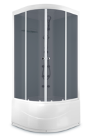 ДК Domani-Spa Light 88 high ВГ (80x80) Белые стенки, тонированные стекла