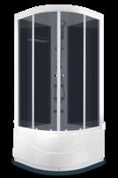 ДК Domani-Spa Light 88 high ВГ (80x80) Черные стенки, тонированные стекла