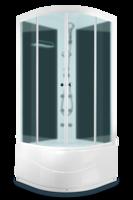 ДК Domani-Spa Light 88 high ВГ (80x80) Черные стенки, сатин-матированные стекла