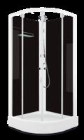 Душевая кабина Domani-Spa Eko 99 (90x90) Черные стенки, прозрачные стекла