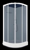 Душевая кабина Domani-Spa Eko 99 (90x90) Белые стенки, тонированные стекла