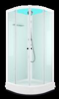 Душевая кабина Domani-Spa Eko 99 (90x90) Белые стенки, сатин-матированные стекла