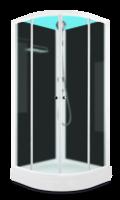 Душевая кабина Domani-Spa Eko 99 (90x90) Черные стенки, сатин-матированные стекла