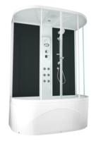 Душевая кабина Domani-Spa Neat high (черные стенки, прозрачные стекла)