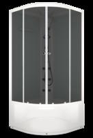Душевая кабина Domani-Spa Delight high (белые стенки, тонированные стекла)