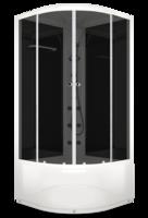 Душевая кабина Domani-Spa Delight high (черные стенки, тонированные стекла)