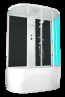 Душевая кабина Domani-Spa Neat high без ВГ (черные стенки, прозрачные стекла)