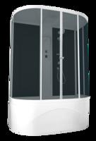 Душевая кабина Domani-Spa Neat high без ВГ (черные стенки, тонированные стекла)