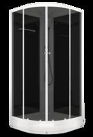Душевая кабина Domani-Spa Delight без ВГ (черные стенки, тонированные стекла)