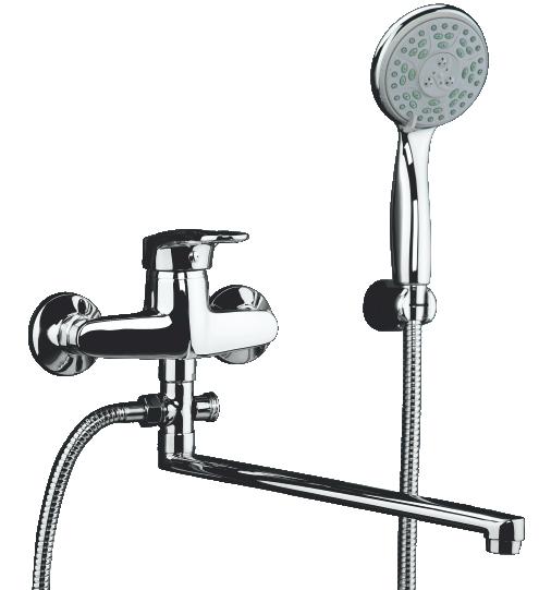 Смеситель для ванны Domani-Spa Loop D612 длинный излив