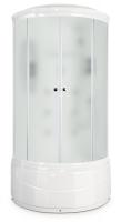 Душевая кабина Domani Spa Elegance high (белые стенки, матовые стекла)