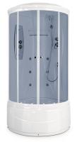 Душевая кабина Domani-Spa Elegance high (белые стенки, тонированные стекла)