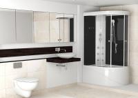 Интерьер ванной команты с душевой кабиной Enjoy high (L)