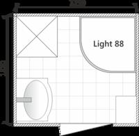 Планировка ванной комнатой с Light 88 (раздельный санузел)