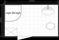 Планировка ванной комнаты с Domani-Spa Light 88 high (совмещенный санузел)