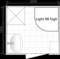 Планировка ванной комнаты с Domani-Spa Light 88 high (раздельный санузел)
