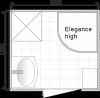 Планировка ванной комнаты с Domani-Spa Elegance High (чертеж раздельный санузел)