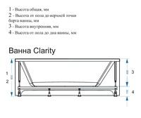 clarity схема с размерами