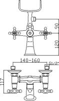 Смеситель для ванны Domani-Spa Old D102 схема