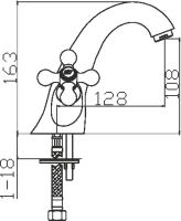 Смеситель для раковины Domani-Spa Old D401 схема