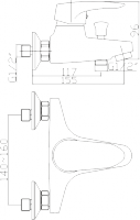 Смеситель для ванны Domani-Spa Sleek D101 схема