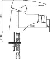 Смеситель для биде Domani-Spa Sleek D501