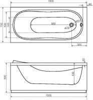 Ванна Domani-Spa Classic 150x70 (чертеж)