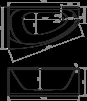 Ванна Domani-Spa Style 160 L (чертеж)