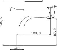 Смеситель для раковины Domani-Spa Sleek II